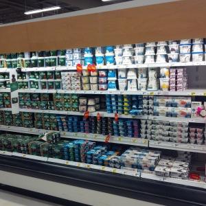 yogurt aisle.